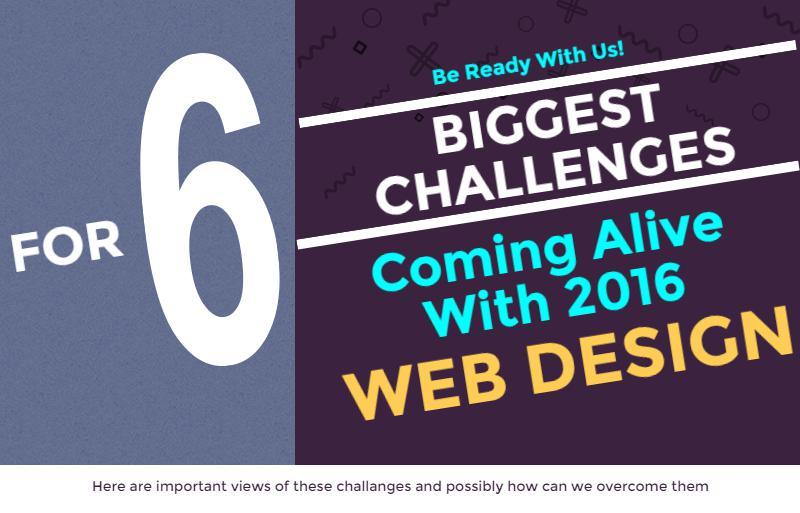6 Web Design Challenges