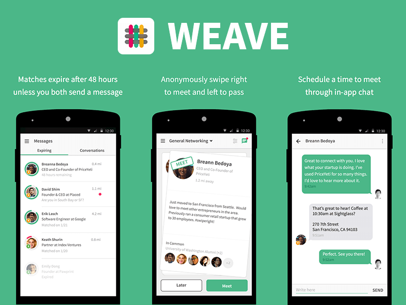 Weave- Unique Clone Niches Of Tinder for X Startups