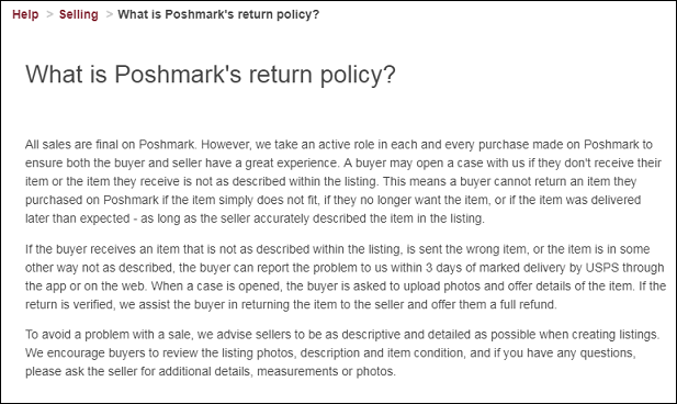 Poshmark Return Policy_TRooTech Business Solutions