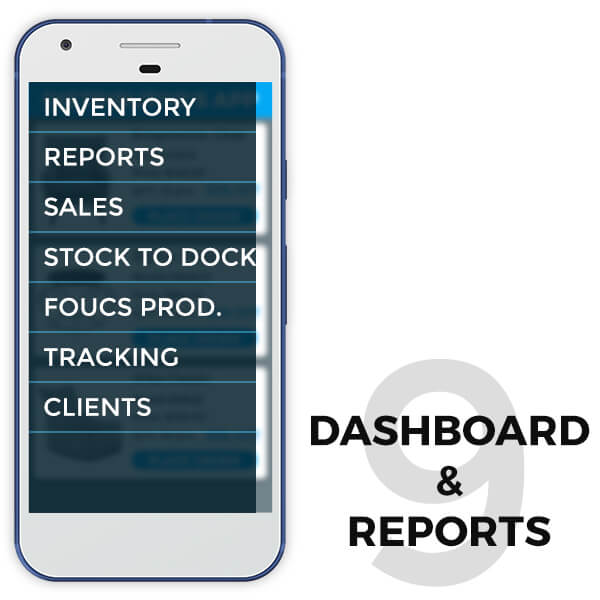 features of retail distributor app dashboard and reports - TRooTech Buisness Solutions