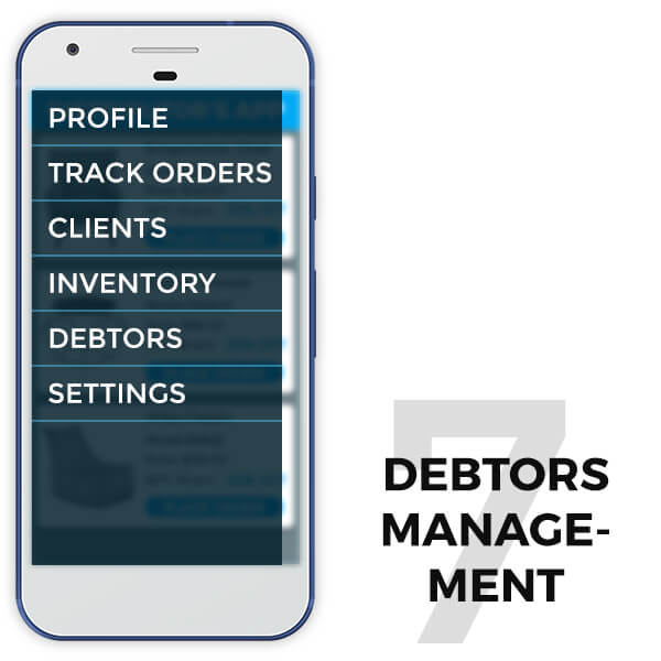 features of retail distributor app debtors management - TRooTech Buisness Solutions