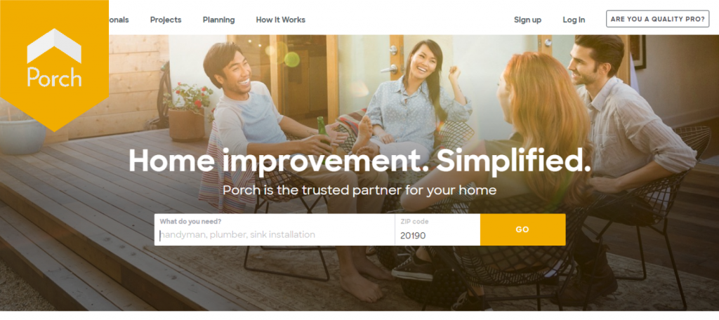 porch - the competitors of thumbtack