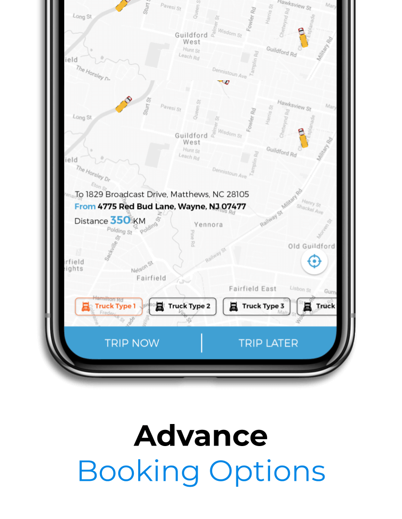 Advanced Booking Option for Users in Our On-Demand trucking app solution