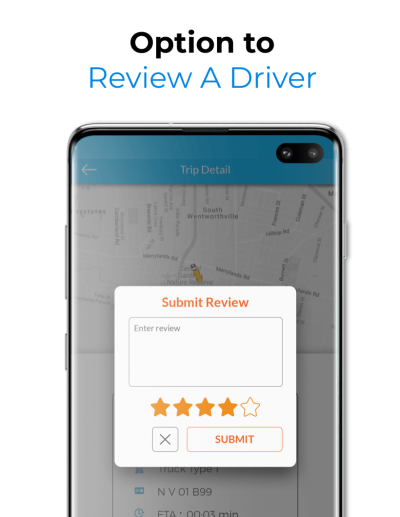 Driver Rating Feature for Drivers in Uber Similar Trucking App