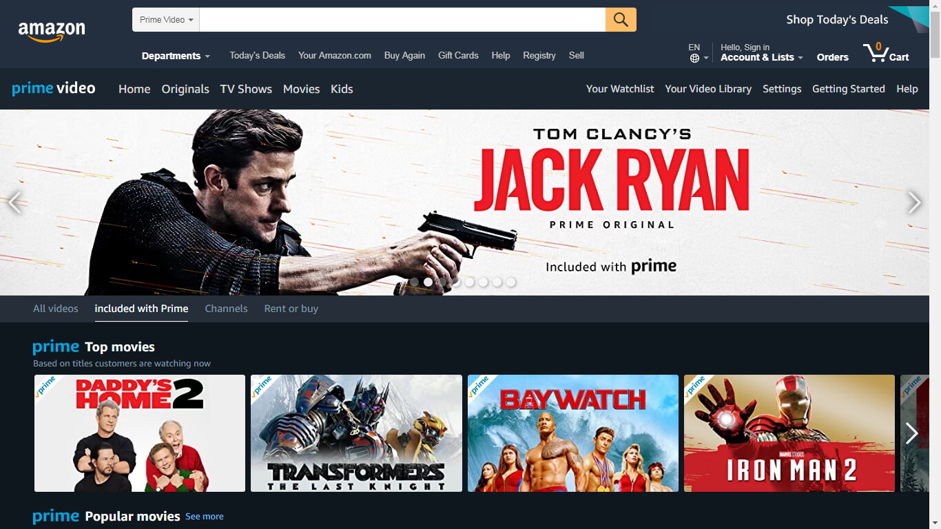 Cover Image Amazon Prime Video one of the top online video streaming businesses
