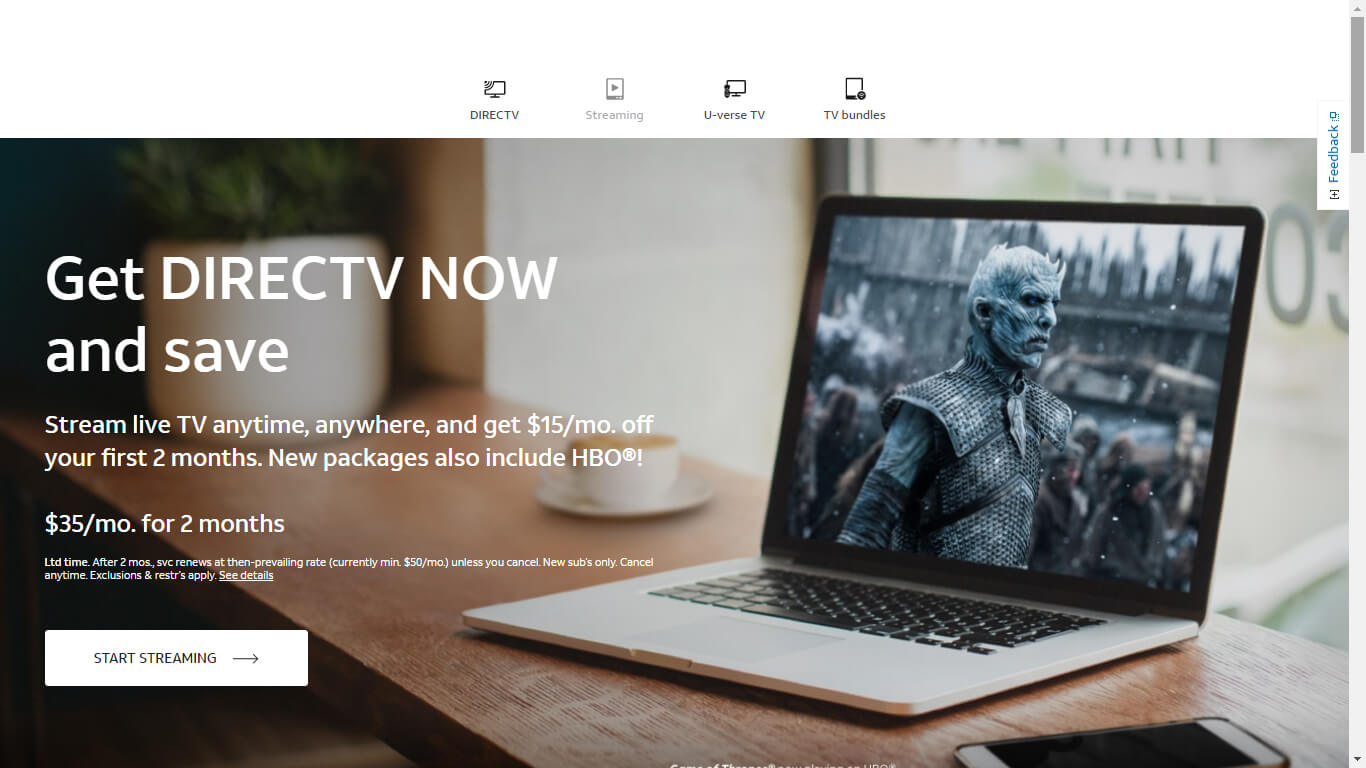 Cover Image DirectTV Now one of the top online-video streaming businesses
