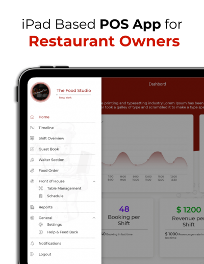 iPad based POS app for the restaurant owners