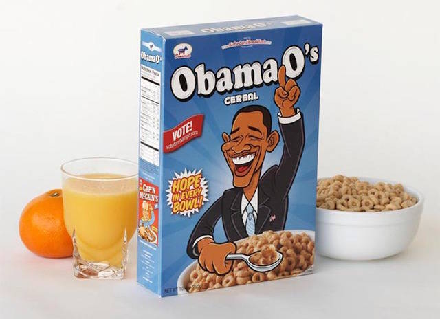 Airbnb got boxes printed in the theme 'Obama Oats'