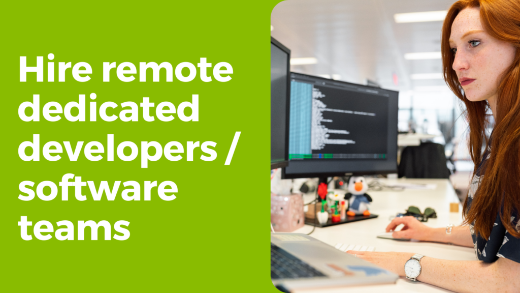 Hire remote dedicated developers from TRooTech or the complete software development teams for your product